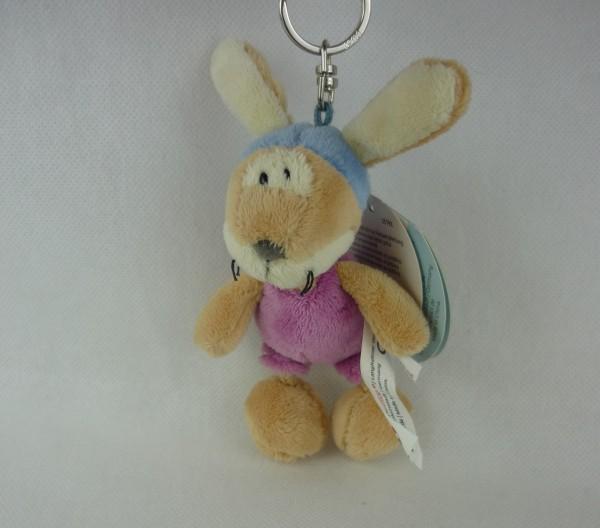 Nici 35791 Schlüsselanhänger Hase der kleine Rabe Socke Plüsch ca 12cm
