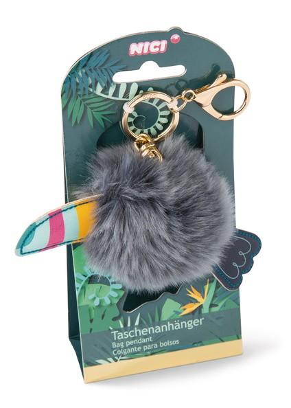 Nici 45174 Taschenanhänger Tukan mit Pompon ca 8cm Tropicano Toucan