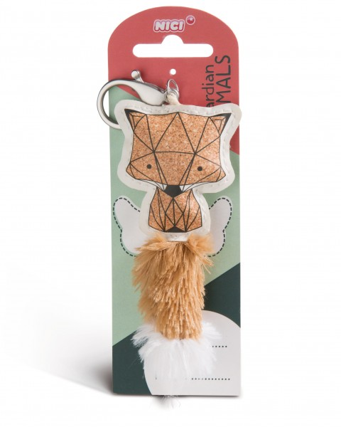 Nici 45584 Guardian Animals Fuchs Kork-Optik 12cm Taschenanhänger Kunstleder