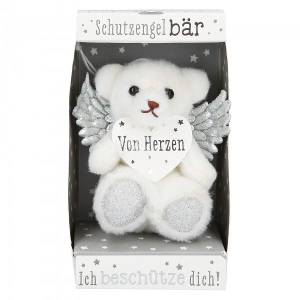 Depesche 10854 SchutzengelBär in kleiner Geschenkbox - Von Herzen