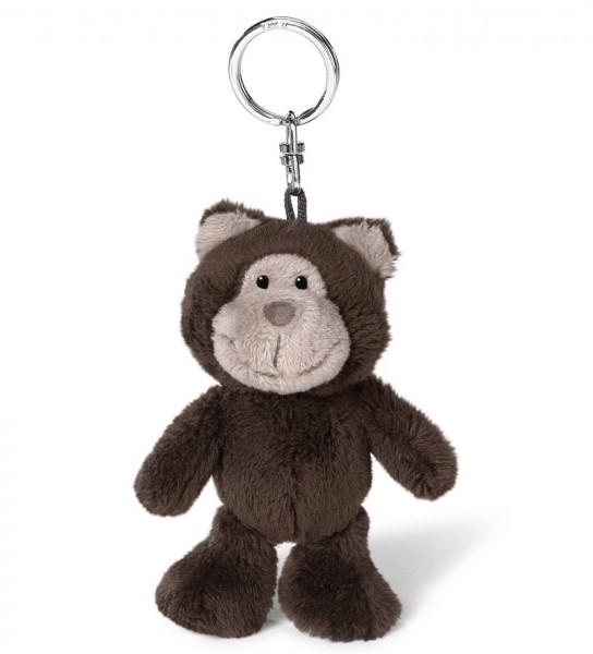 Nici 40476 Schlüsselanhänger dunkelbrauner Bär Bean Bag Plüsch 10cm