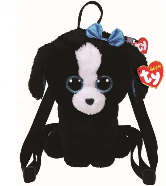 TY Gear Plüsch Rucksack schwarzer Hund Tracey ca 30cm Kindergartenrucksack