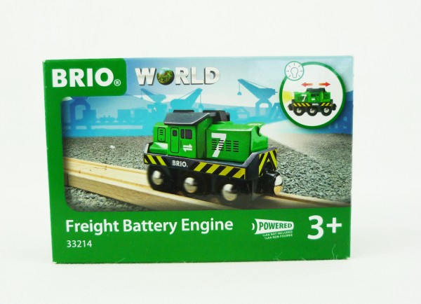 Brio World 33214 Freight Battery Engine Batterie-Frachtlok Holzeisenbahn