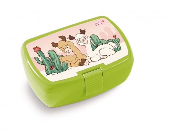 Nici 45460 Brotdose Lunchbox Alpaka Elli Paka & Al Paka grün