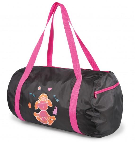 Nici 41325 Jolly Mäh Yoga Sporttasche schwarz bunt bedruckt ca 50cm
