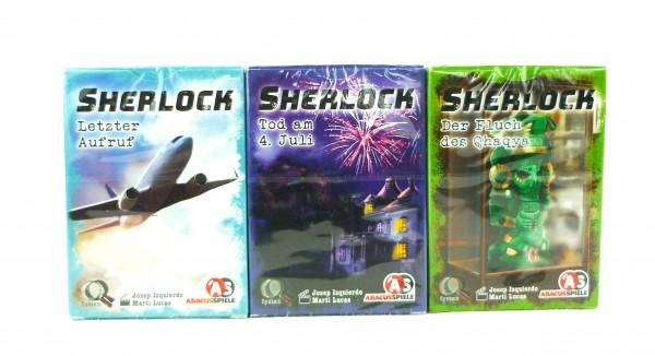 3x Sherlock Rätsel Kartenspiel AbacusSpiele Schwierigkeitsgrade 2+3