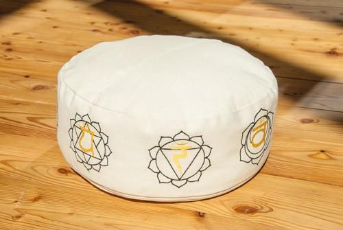 Berk YO-31 Chakra Meditationskissen mit Buchweizen gefüllt natur Ø 35 cm