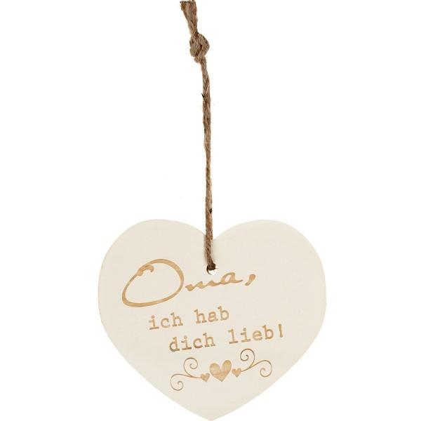"""Kleines Vintage-Herz aus Holz """"Oma ich hab dich lieb"""" 24013"""