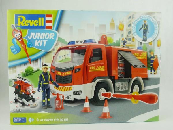 Revell 00819 Junior Kit Feuerwehr 69 Teile 30cm + Figur Level 1 Modellbausatz