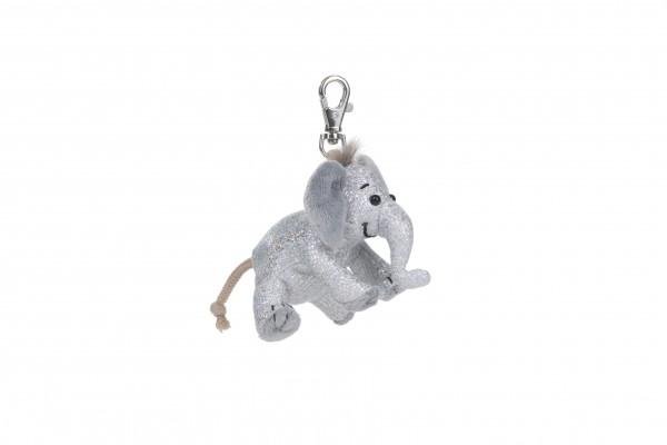 Schaffer 2702 Schlüsselanhänger Anhänger Glitz & Glamour Elefant silber ca 8cm