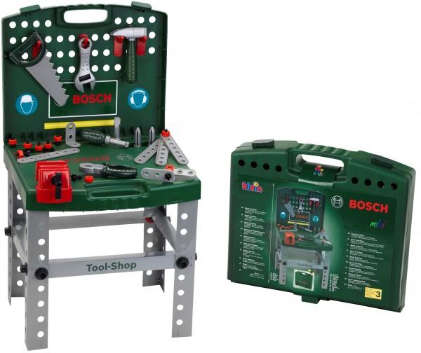Bosch Mini Tragbare Werkbank mit kindgerechten Funktionen über 40 Teile 8681