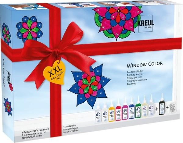 Window Color Glas Design Set XXL Geschenkset mit Schmucksteinen