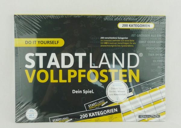 Stadt Land Vollpfosten Do It Yourself DinA4 Format mit 200 Kategorien Reisespiel