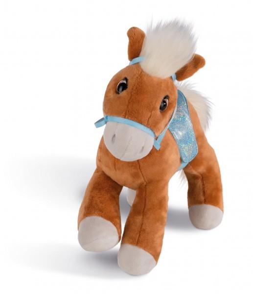 Nici 43206 Haflinger Leotie ca 16cm stehend Pferd mit Zaumzeug und Sattel