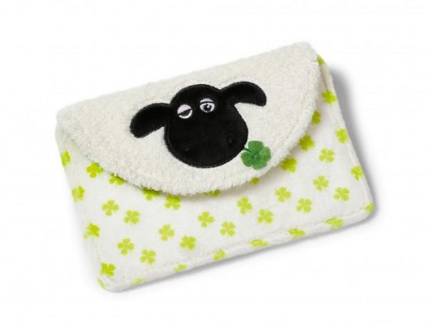 Nici 40677 Handytasche Shaun das Schaf Shirley mit Kleeblatt Plüsch 10x16cm