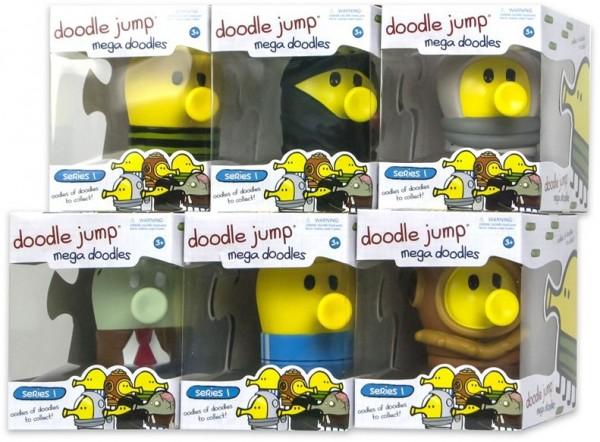 Doodle Jump mega doodles Serie 1 Sammelfigur in Box Komplett-Set 1-6