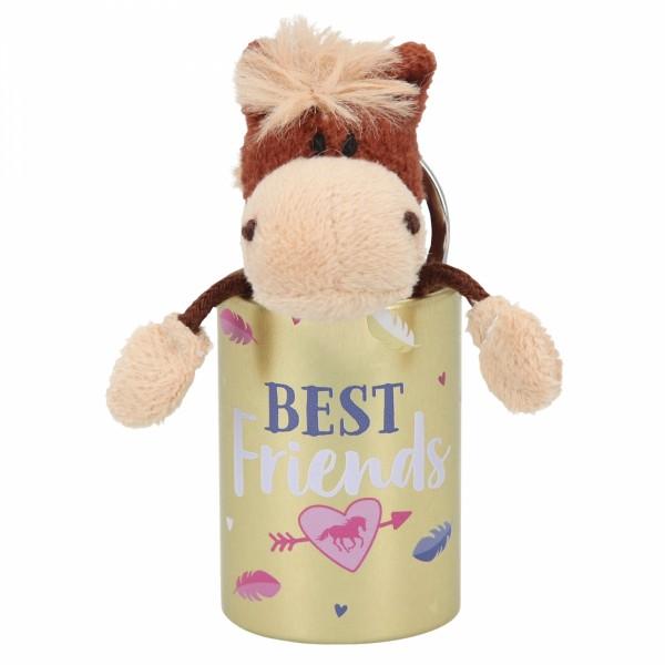 Depesche 8110 Pferd Miss Melody Plüsch-Anhänger im Döschen - Best Friends