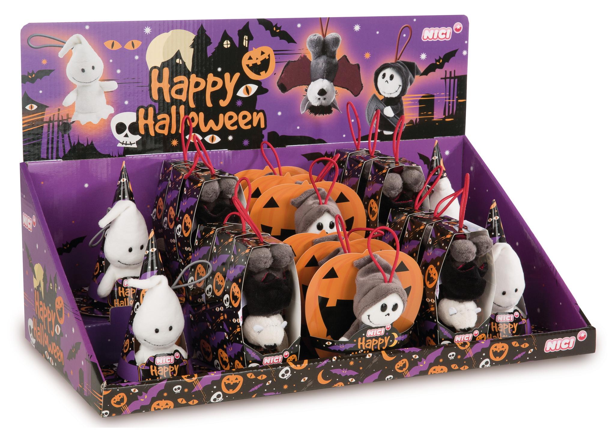 Nici 43670 Fledermaus mit Loop ca 10cm Plüsch Happy Halloween