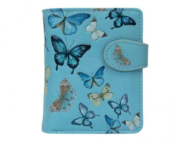 bb Klostermann Geldbeutel Geldbörse Schmetterlinge Hellblau 51176