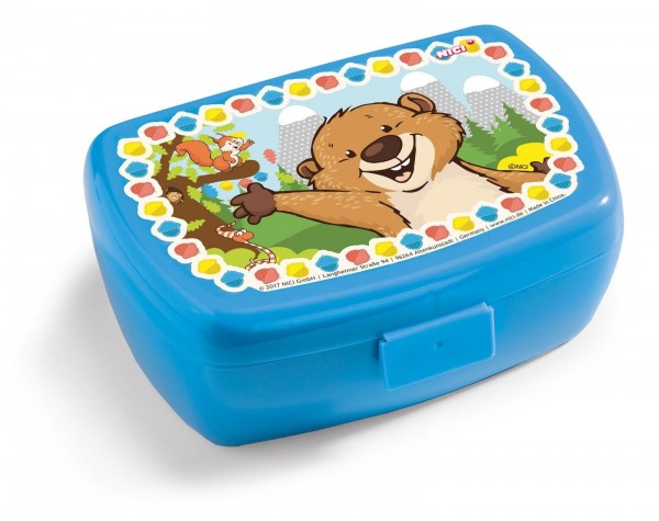Nici 41870 Brotdose Lunchbox Murmeltier und Eichhörnchen blau 17 x 12 x 6,8 cm