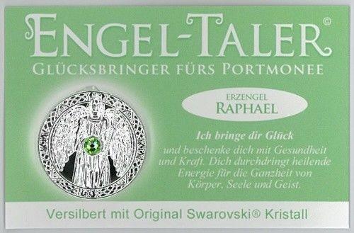 Berk Esoterik Engeltaler versilbert mit EngelBotschaft - Erzengel Raphael
