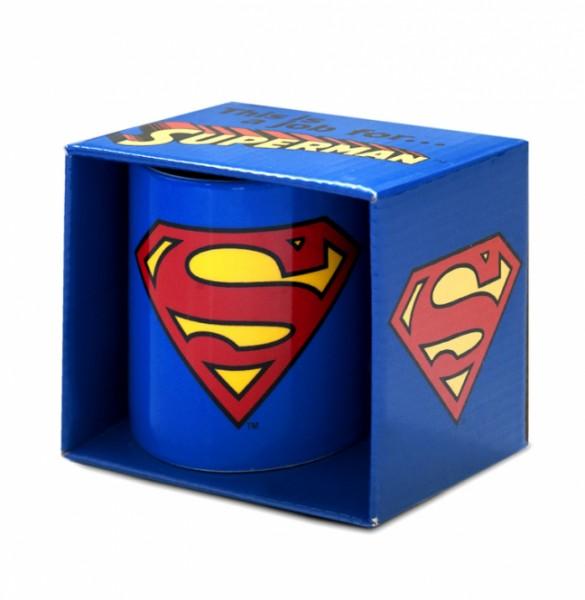 Tasse Superman Logo aus Keramik 350ml in Geschenkbox (KuK)