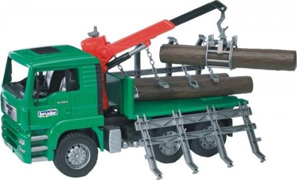 Bruder 02769 MAN TGA Holztransport-LKW mit Ladekran Maßstab 1:16