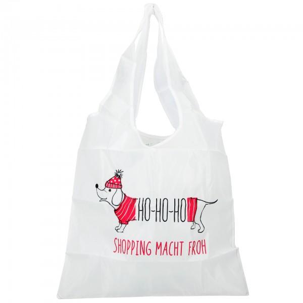 Depesche 11297 Weihnachtlicher Einkaufsbeutel - Ho-Ho-Ho Shopping macht froh