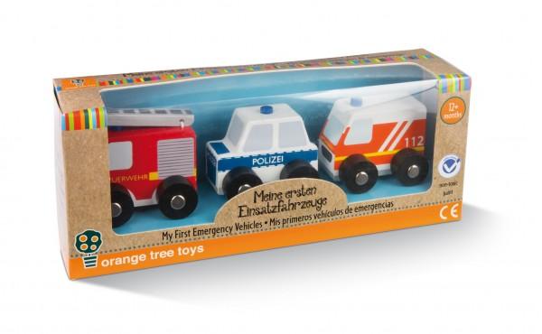Nici 46035 Meine ersten Einsatzfahrzeuge Holzspielzeug Orange Tree Toys