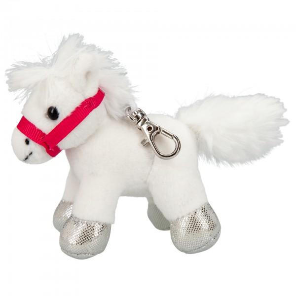 Depesche 8771 Schlüsselanhänger Miss Melody Pferd mit Karabiner ca 8cm - Weiß