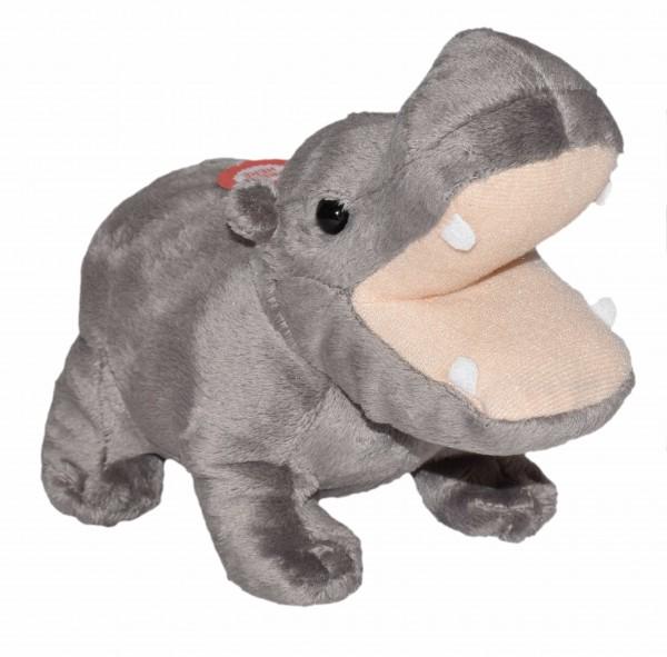 Wild Republic 23327 Wild Calls Flusspferd Hippo ca 20cm Plüsch mit Sound