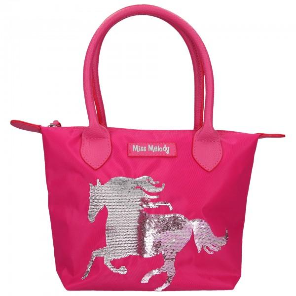 Depesche 10607 Pferd Miss Melody Handtasche Streich -Pailletten pink