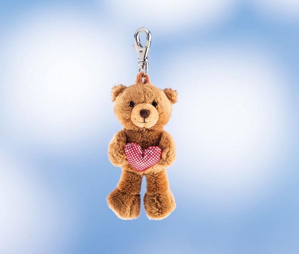 Schaffer 0235 Teddy mit Herz Schlüsselanhänger Plüsch ca 12cm
