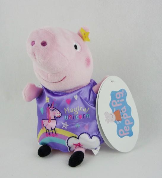 Peppa Pig Peppa Wutz Plüsch Kuscheltier ca 20cm - Magical Unicorn Einhorn