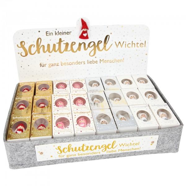 Depesche 11307 4x Weihnachtlicher Schutzengel-Wichtelanhänger in kleiner Box