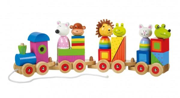 Nici 46033 Tierzug Puzzle Holzspielzeug Orange Tree Toys