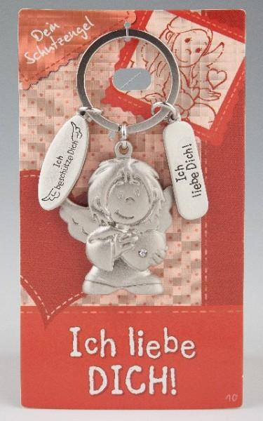 Depesche 7518 Schutzengel Schlüsselanhänger Nr. 010 Ich liebe dich