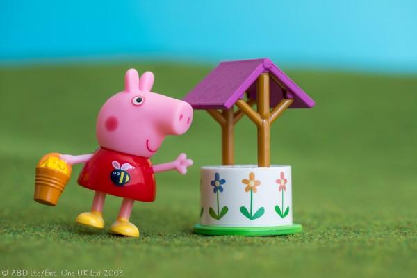 Peppa Pig Figur Spielset Peppa und der Wunschbrunnen Jazwares 95773