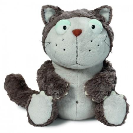 Nici 39022 comic cats Katze Lazy grau ca 15cm Plüsch Kuscheltier