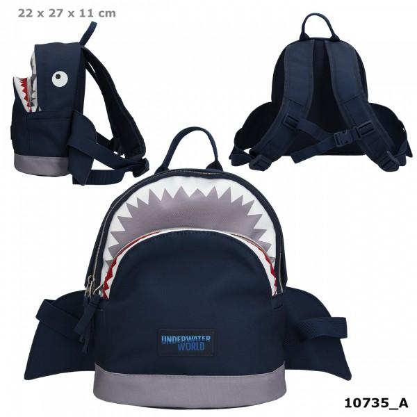 Depesche 10735 Dino World Kindergarten-Rucksack UNDERWATER Wasserwelt Hai