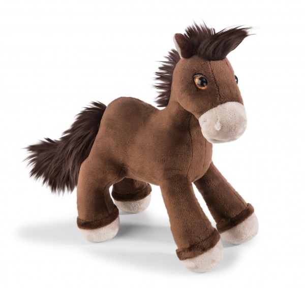 Nici 41378 dunkelbraunes Pferd Starfinder stehend ca 25cm Plüsch Kuscheltier