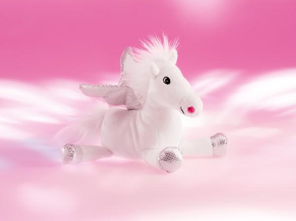 Schaffer 5535 weißer Pegasus Fantasy XL 75cm Plüsch Kuscheltier Schlenker