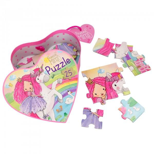 Depesche 10952 Prinzessin Mimi Puzzle in Herzschachtel Einhorn 25-teilig 4+