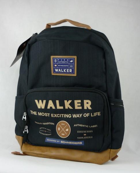 Walker Rucksack Pure Authentic schwarz braun 28L