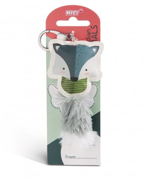 Nici 45591 Guardian Animals Wolf 12cm Taschenanhänger Kunstleder