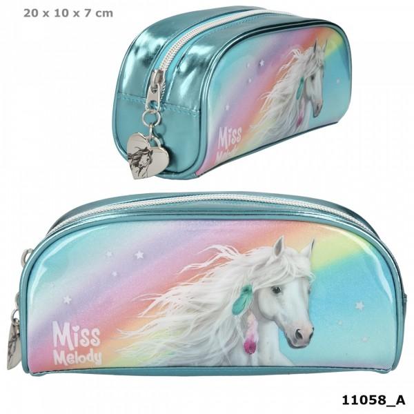 Depesche 11058 weißes Pferd Miss Melody SchlamperMäppchen RAINBOW Regenbogen