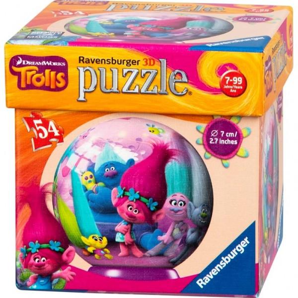 Dreamworks Trolls Ravensburger 3D Puzzle Easyclick 54 Teile rund
