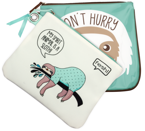 fesh! Sloth Beauty Bag Kosmetiktaschen-Set Faultier