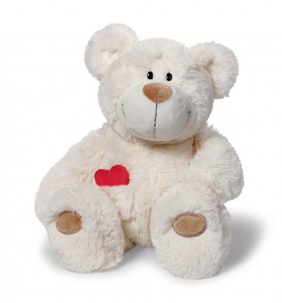 Nici 36255 Love Bär mit herausnehmbarem Herz creme 25cm Plüsch