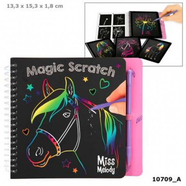 Depesche 10709 Pferd Miss Melody Mini Magic Scratch Book Kratzbilder-Buch